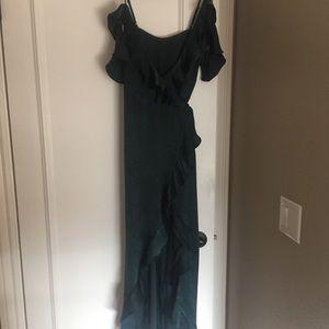 MAJORELLE Dresses - BNWT Majorelle wrap emerald green dress, size S